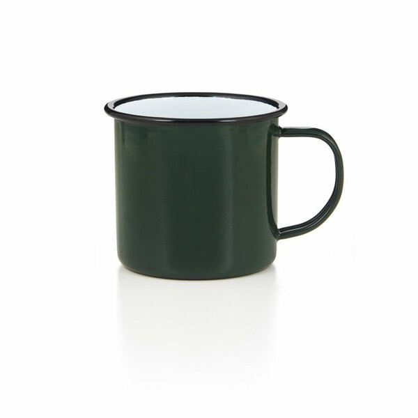 Emaille Tasse Becher grün