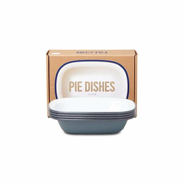 Falcon Emaille Pie Dish Ofenschalen Set grau