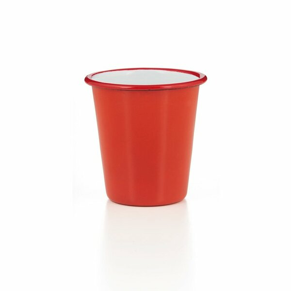 Falcon Emaille Becher Tumbler rot