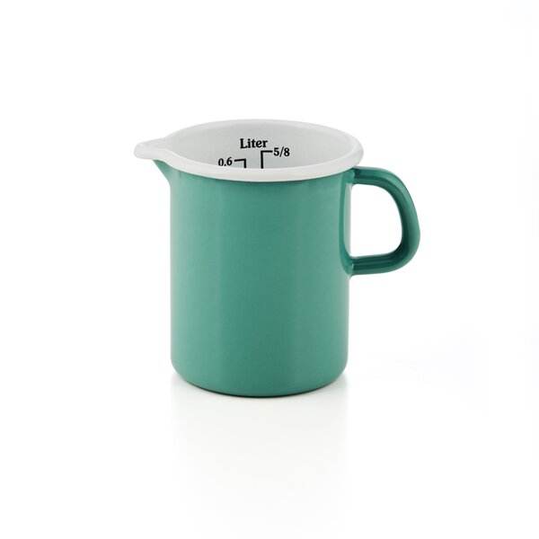 Riess Emaille Küchenmaß Litermaß grün Meßbecher 0,5 Liter Nature Green Medium
