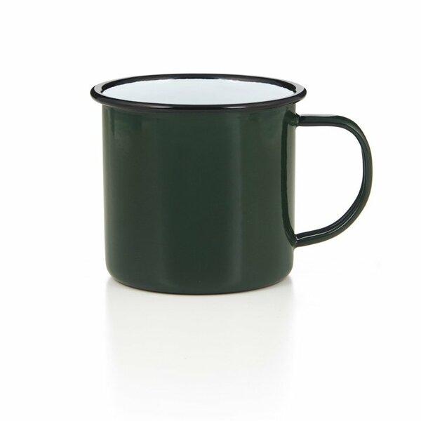 Emaille Tasse Bescher 500ml grün