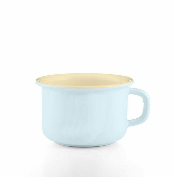 Riess emaille kaffeeschale hellblau 0,4 Liter pastell