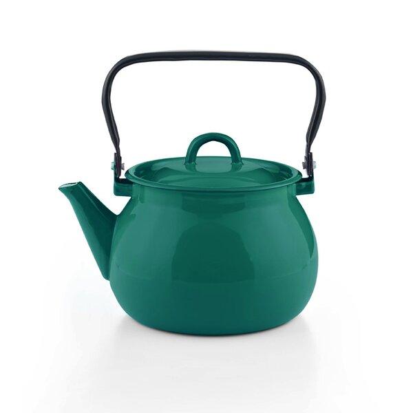 Emaille Wasserkessel petrol Teekessel