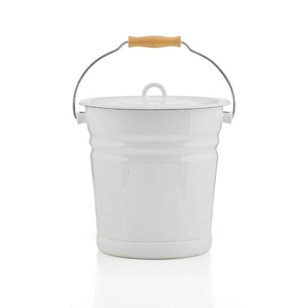 Emaille Eimer mit Deckel 12 Liter