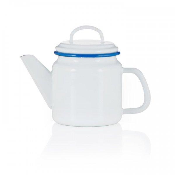 Emaille Teekanne weiß 1 Liter