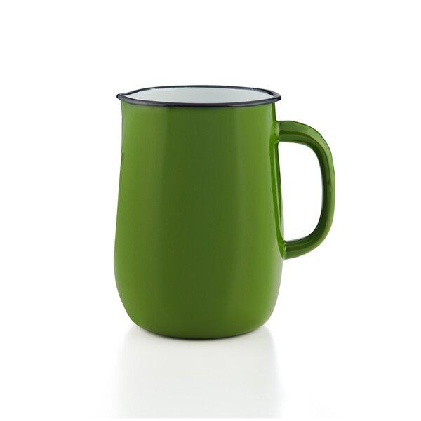 Emaille Wasserkanne, Wasserkrug, Krug, Vase grün