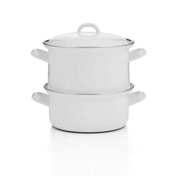Emaille Riess Dampfgarer Kartoffelkocher