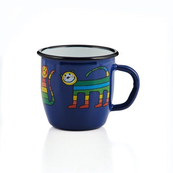 Emaille Kindertasse dunkelblau 250ml konisch