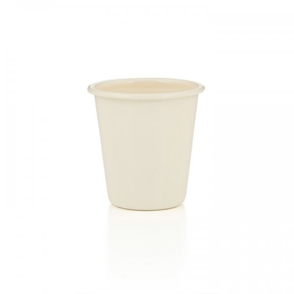 Falcon Emaille Tumbler Becher creme
