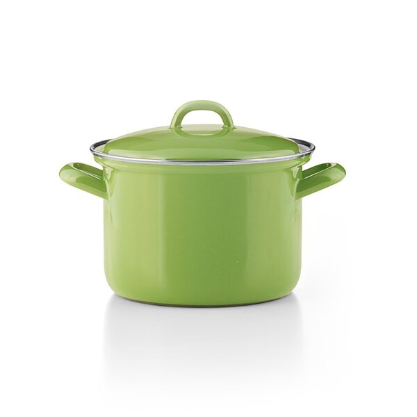"""Riess Emaille Fleichtopf """"Cera Glas Green"""" grün"""