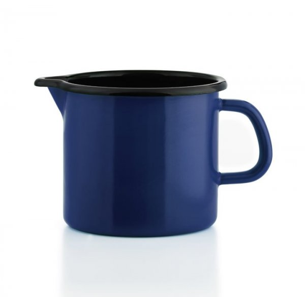 Riess Schnabeltopf blau Emaille 1 Liter