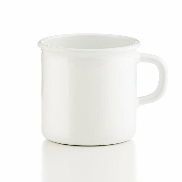 Riess Emaille Topf mit Bördel 0,5 liter weiß