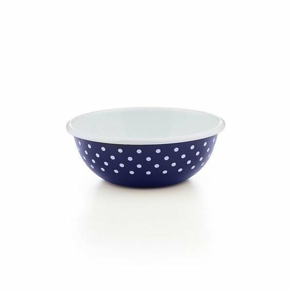 Riess Emaille küchenschüssel 18cm Pünktchenblau