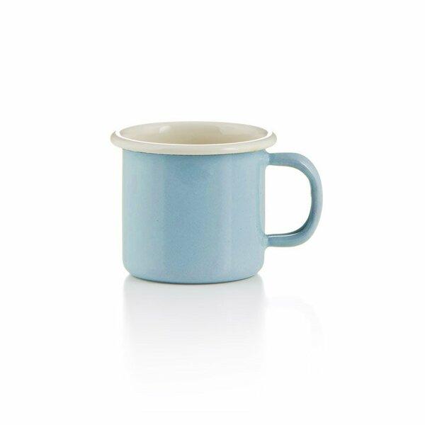 Emaille becher tasse 6cm hellblau