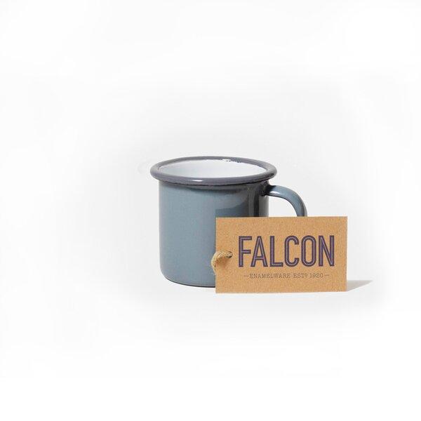 Falcon Emaille Espressotasse Espresso Tasse grau