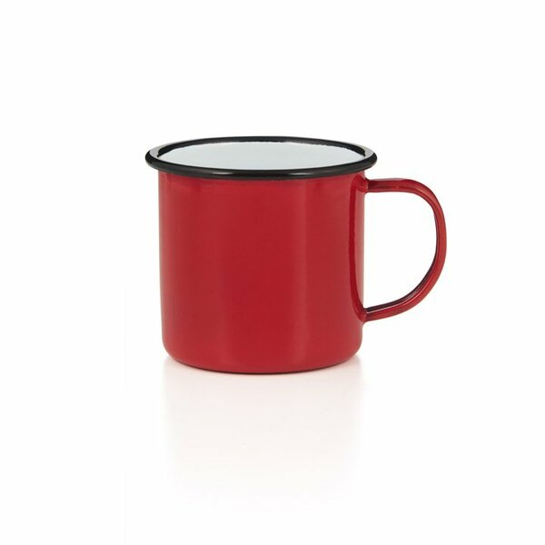 Emaille Tasse Becher rot