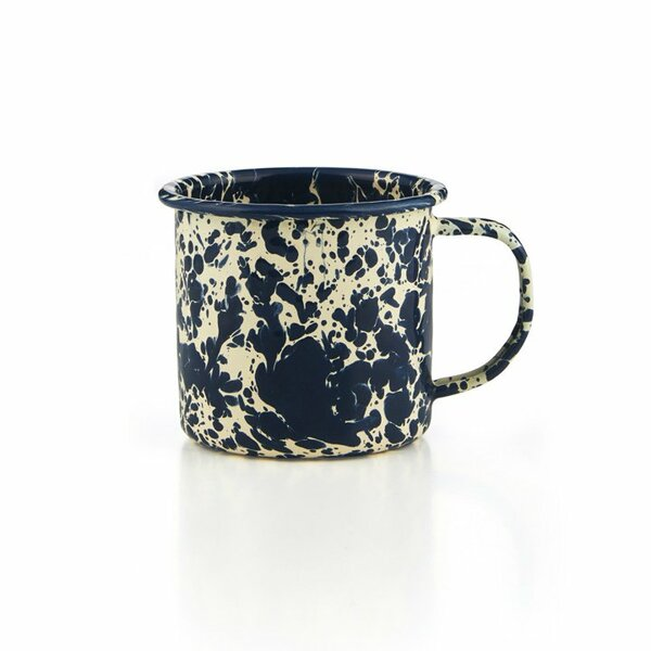 Crow Canyon Emaille Tasse navy/creme Marmor 350ml