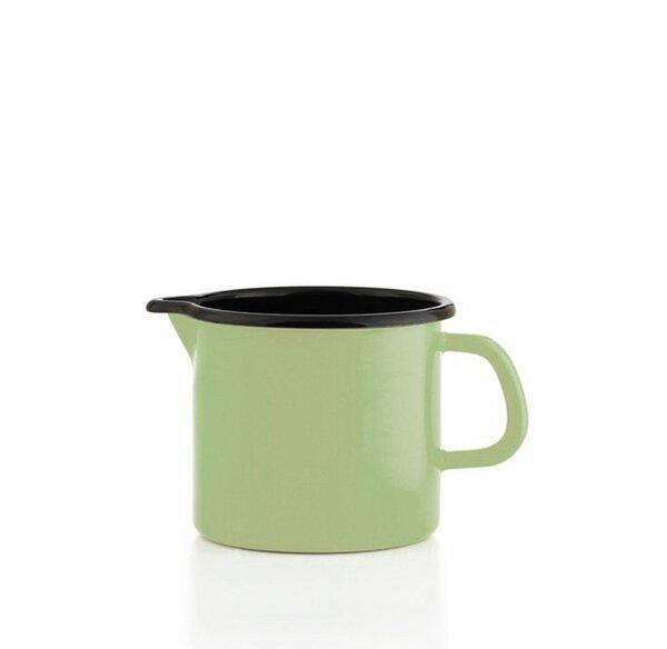Riess Schnabeltopf grün Emaille 0,5 Liter