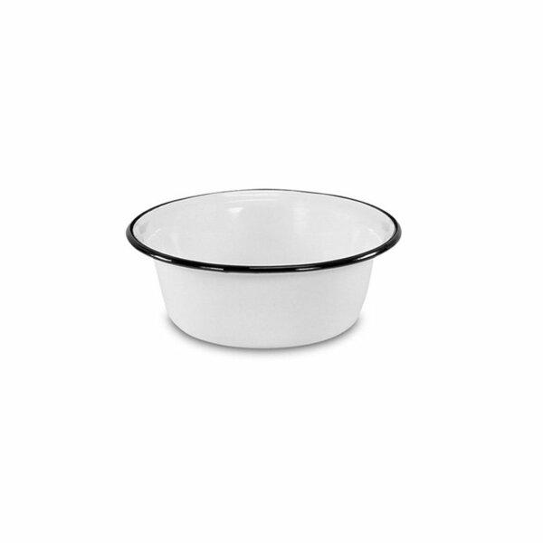 Emaille Schüssel Schale 16cm weiß