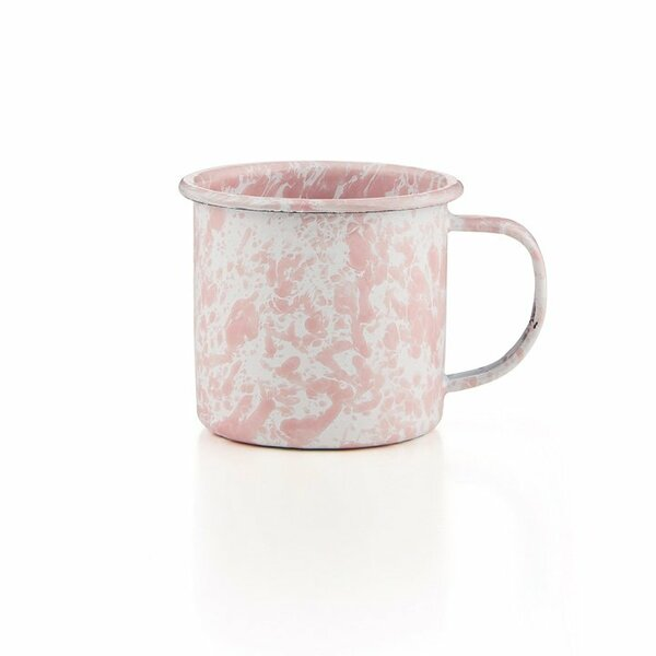 Emaille Tasse Crow Canyon rosa Marmor