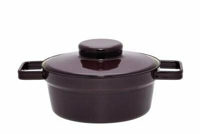 Kasserolle mit Deckel 20cm Dark Aubergine Aromapots