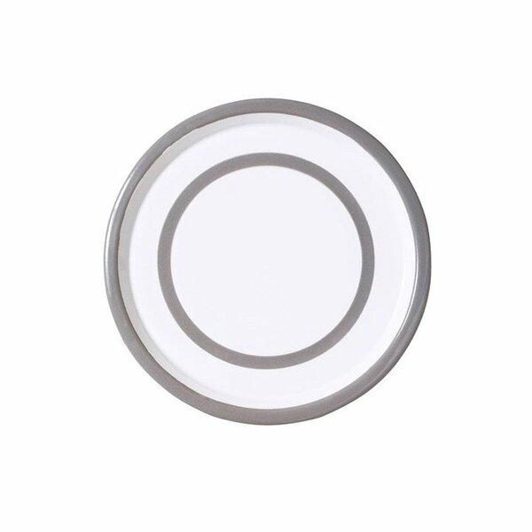 Variopinte Emaille Teller Tablett 26,5cm pearl grey