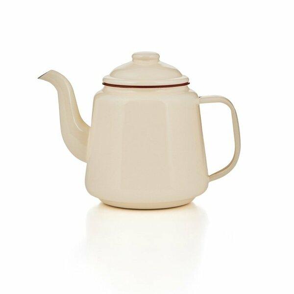 Emaille Teekanne 1,5 Liter creme