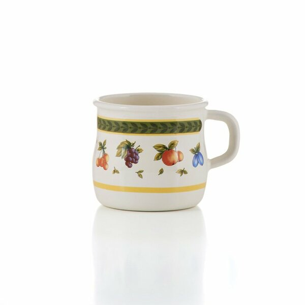 Emaille Riess Tasse Becher Obstgarten