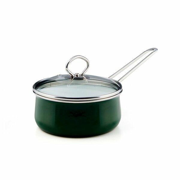 Riess Emaille Verde Stielkasserolle 1 Liter top 3000