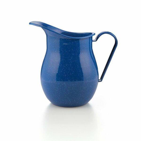 GSI Emaille Wasserkrug blau wasserkanne
