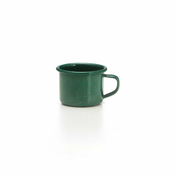 GSI Emaille Espressotasse grün