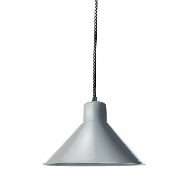 Gics Emaille Lampe Tiefstrahler 250 blaugrau