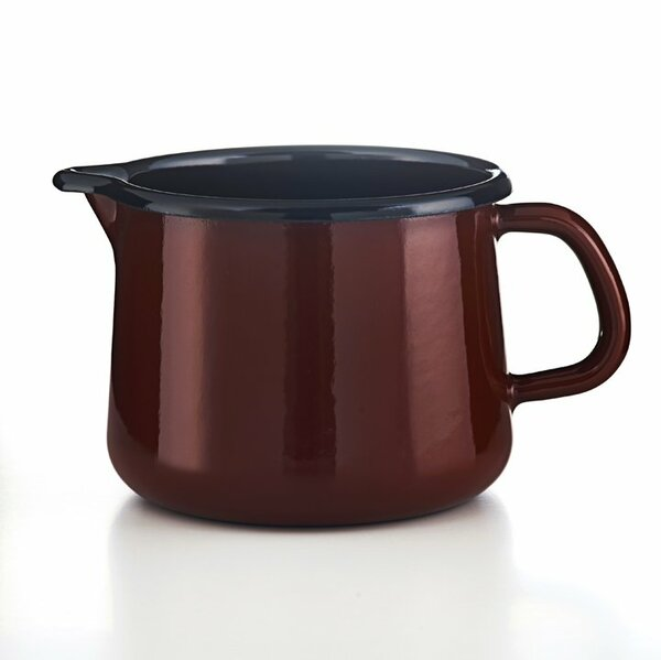 Riess Emaille Schnabeltopf 1 Liter Rosso
