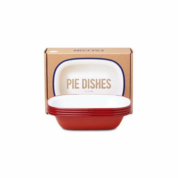 Falcon Emaille Pie Dish Ofenschalen Set rot