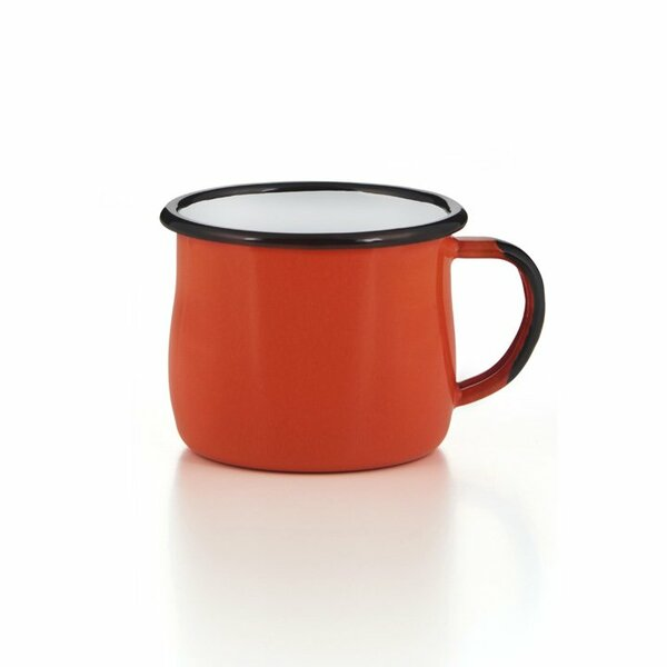 Emaille Tasse Becher orange