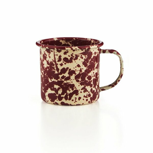 Crow Canyon Emaille Tasse bordeaux/creme Marmor 350ml