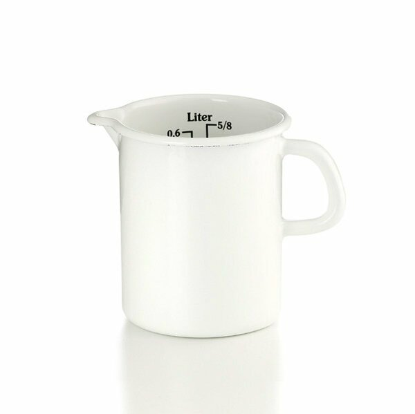 Riess Emaille Küchenmaß Litermaß Meßbecher 0,5 Liter