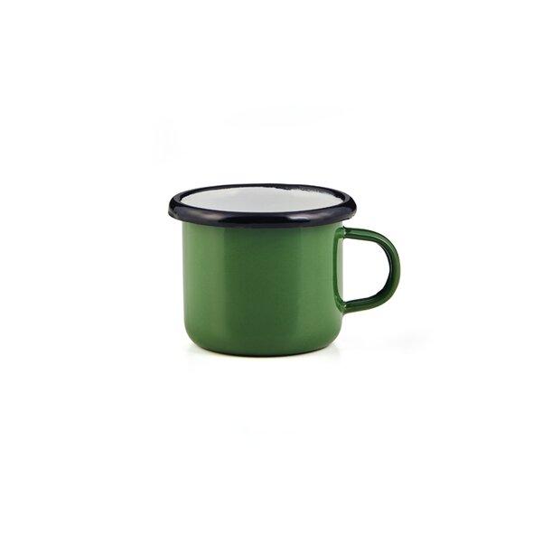Emaille Espressotasse grün