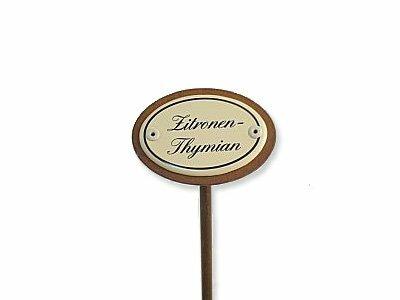 Emaille Kräuterstecker Kräuterschild Zitronen-Thymian