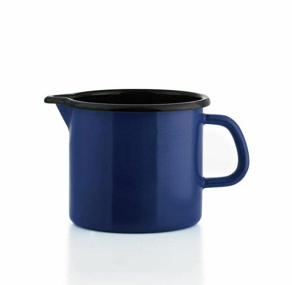 Riess Schnabeltopf blau Emaille 0,75 Liter