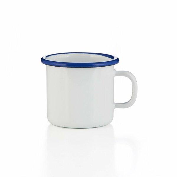 Emaille Tasse weiß Becher