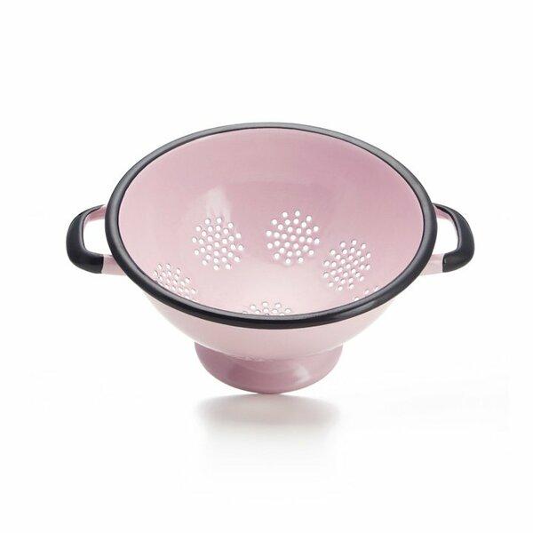 Emaille Durchschlag Sieb Nudelsieb rosa