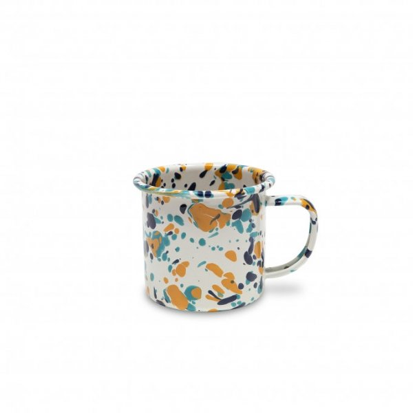 Crow Canyon Emaille Tasse CATALINA  Bermuda Buttercup Marmor 350ml