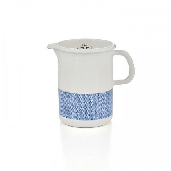 Riess Emaille Küchenmaß Litermaß 1 Liter Linea blau