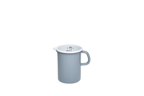 Riess Emaille Küchenmaß Litermaß 1 Liter Pure Grey grau