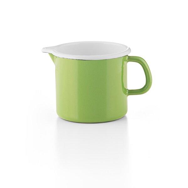 """""""Cera Glas Green"""" Schnabeltopf Riess Emaille grün"""