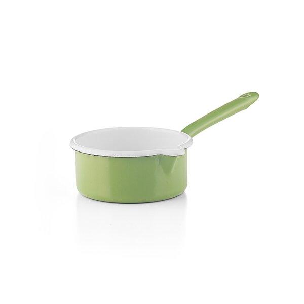 """Riess Emaille Stielkasserolle """"Cera Glas Green"""" grün"""