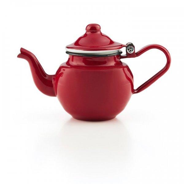 Emaille Teekännchen 0,5 Liter Teekanne rot