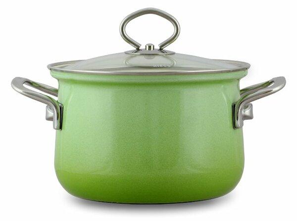 Riess Emaille Fleischtopf Smaragd 2,5 Liter