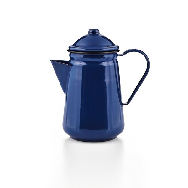 Emaille Kaffeekanne blau